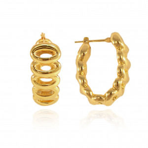 9ea2cea9c Chunky oval hoop earrings