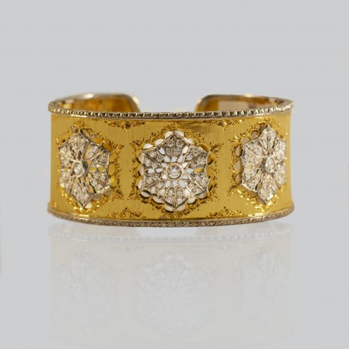 Florentine diamond cuff/bangle